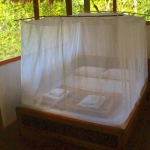 Marital/double bed with private bathroom